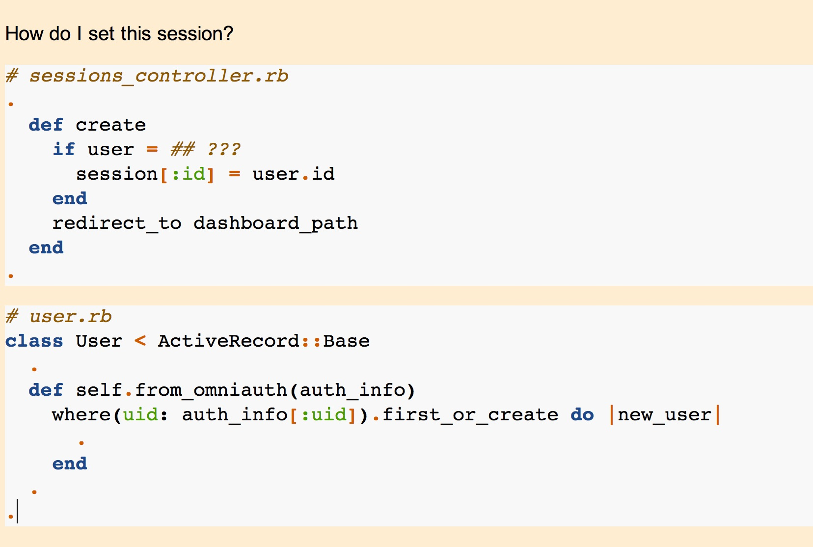 Anki card for using OmniAuth to manage user session