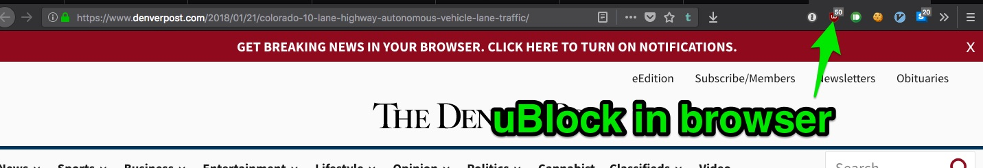 ublock in browser