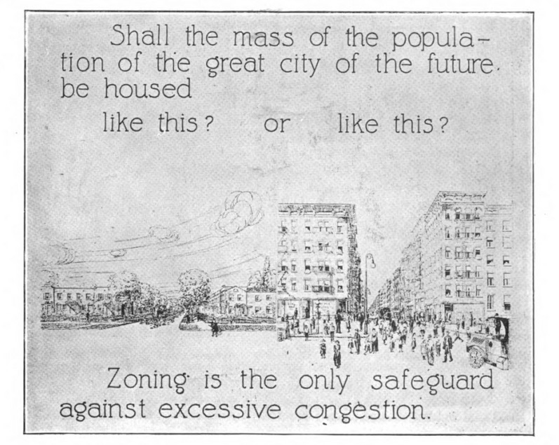 """Shall the mass of the population of the great city of the future be housed like this or that?"""